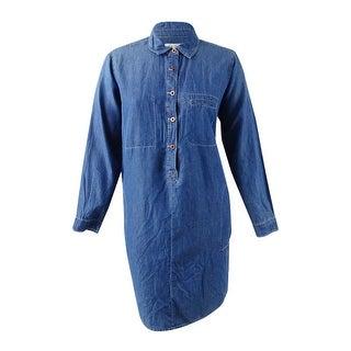 Jessica Simpson Women's Trendy Plus Size Denim Shirtdress (2X, Harlow Basic) - harlow basic - 2x