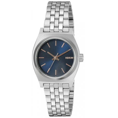 Nixon Women's Small Time Teller Blue Dial Watch - A399-2195 - One Size