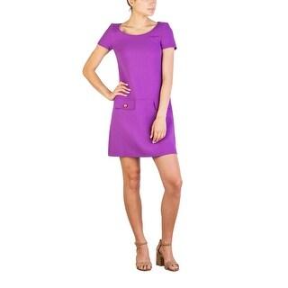 Prada Women's Virgin Wool Dress Purple