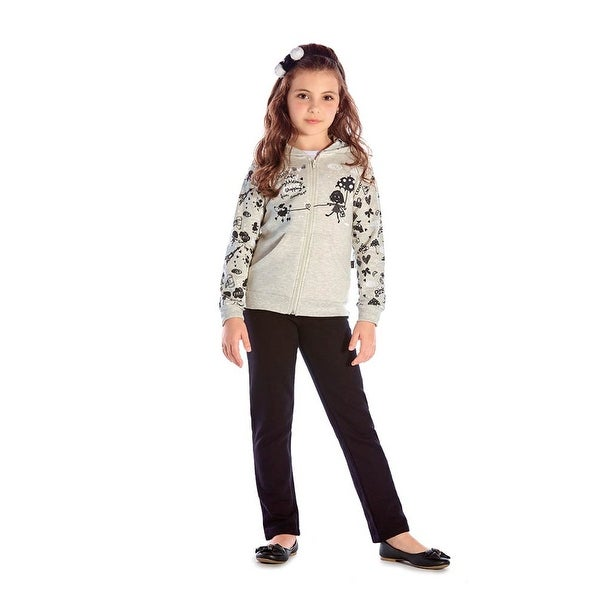 Girls Outfit Hoodie Jacket and Sweatpants Kids Winter Set Pulla Bulla 2-10 Years