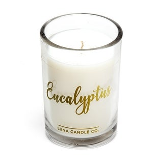 Eucalyptus Candle for Meditation, Natural Soy Wax, 6 Oz.