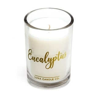 Pure Eucalyptus, Therapeutic, Strong Scented Glass Candle