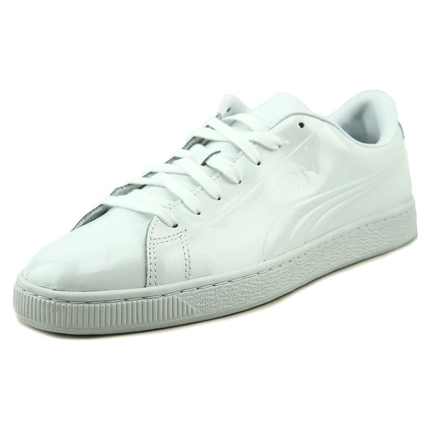Puma Basket Classic Patent Emboss Men Round Toe Synthetic White Sneakers