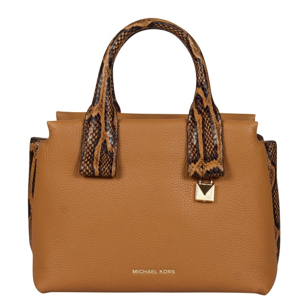 d7d7bbb501a4 Shop Michael Kors Small Rollins Acorn Leather Satchel Handbag - Free  Shipping Today - Overstock - 25638321