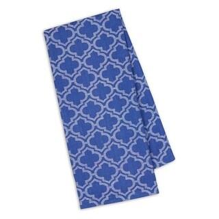 Set of 4 Decorative Blueberry Lattice Jacquard Cotton Kitchen Dishtowels