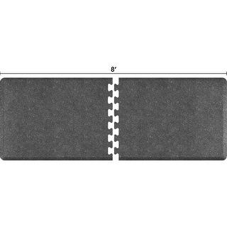 WellnessMats Anti-Fatigue Office & Kitchen Mat, PuzzlePiece Collection R Series, 8 Feet by 3 Feet, Granite Steel - granite steel
