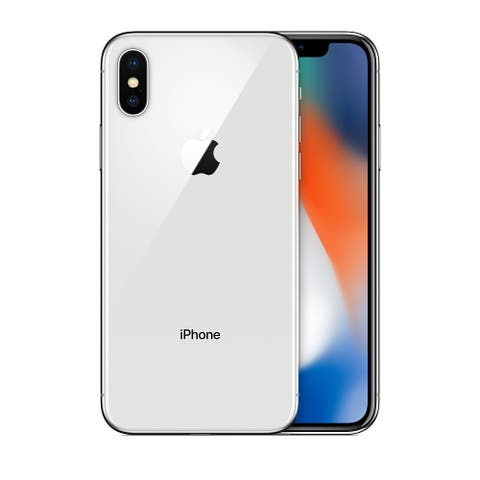 Apple iPhone X 256GB Silver GSM Unlocked (Refurbished)