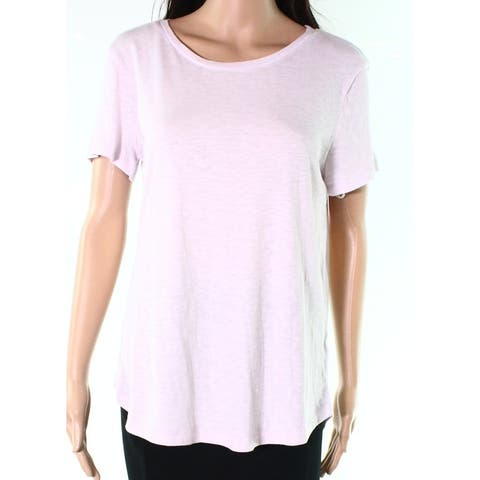 6f1fecfbc1f Caslon Purple Moss Women s Size XXL Short Sleeve Scoop Neck Knit Top