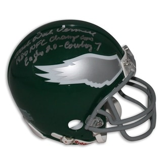 "Coach Dick Vermeil Philadelphia Eagles Autographed Mini Helmet Inscribed ""1980 NFC Champions Eagles 20 Cowboy 7"""