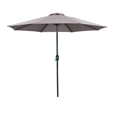 9ft Octagonal Outdoor Patio Umbrella Market Umbrella,Taupe