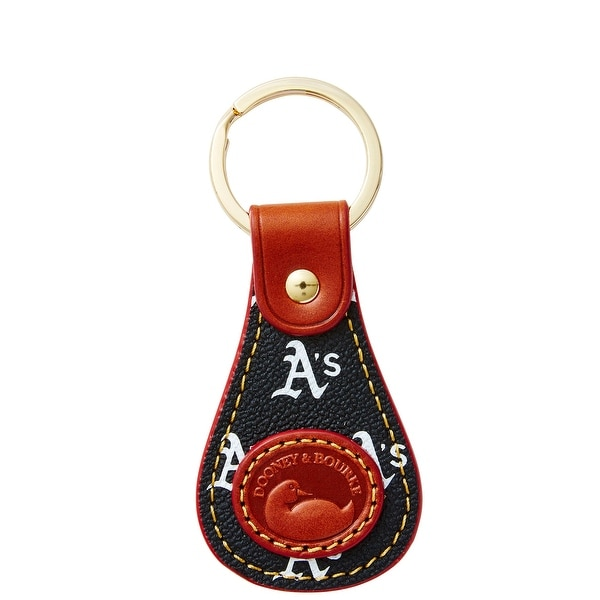 Dooney & Bourke MLB Athletics Keyfob (Introduced by Dooney & Bourke at $28 in Oct 2015) - Black