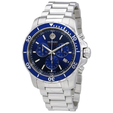 Movado Men's 2600141 'Series 800' Chronograph Stainless Steel Watch - Blue