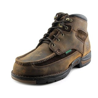 Georgia Athens Waterpoof Men W Round Toe Leather Brown Boot
