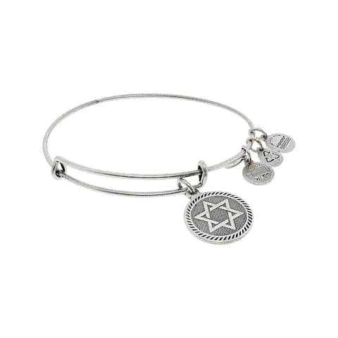 "Alex And Ani Women's Star Of David Charm Bracelet - 9"" - Gold"