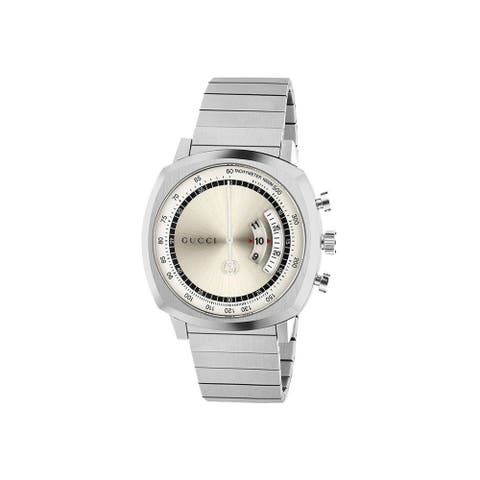 Gucci Men's YA157302 'Grip' Stainless Steel Watch - Silver