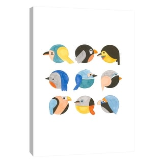 """PTM Images 9-105615  PTM Canvas Collection 10"""" x 8"""" - """"Emoji Birds"""" Giclee Birds Art Print on Canvas"""