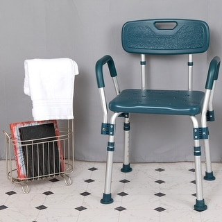 Medical Grade Adjustable Navy Bath & Shower Arm Chair