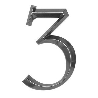 """Whitehall 6"""" Classic Standalone Polished Nickel Number 3 (Metallic Silver)"""