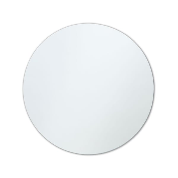 Frameless Polished Edge Round Wall Mirror - Clear. Opens flyout.