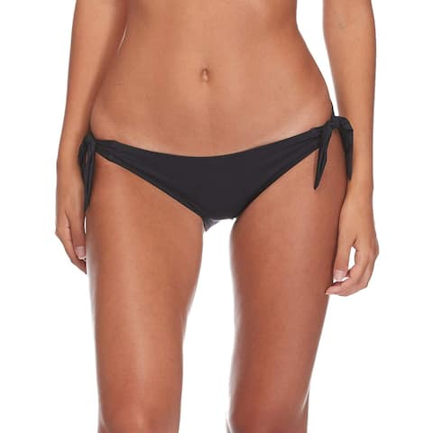 Skye Women's Sash Tie Side Med Bikini Bottom Swimwear, So, Black, Size Small