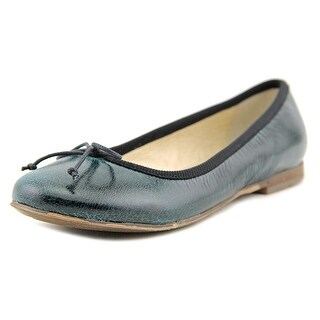 Momino Gomma Round Toe Leather Ballet Flats