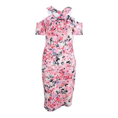 Rachel Rachel Roy Women's Cold-Shoulder Floral Lace Dress - Paradiso