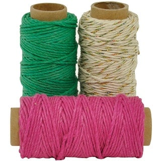 Lucky Dip Mixed Hemp Cord 1.0Mmx21m 3/Pkg-Toffee Apple