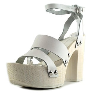 Charles David Ellie Women Open Toe Leather Platform Sandal