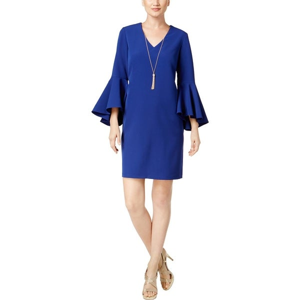 MSK Womens Party Dress Embellished Bell Sleeve