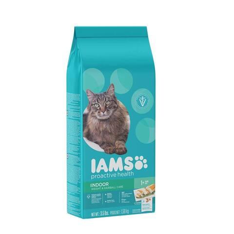 IAMS ProActive Health Adult Indoor Weight & Hairball Care Cat Food 3.5lb