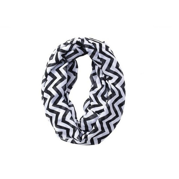 Zigzag Chevron Soft & Lightweight Loop Infinity Scarf