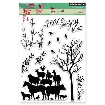 "Penny Black Clear Stamps 5""X7""-Joy To All"
