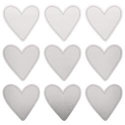 """Silver Hearts - Lucky Dip Foil Stickers 4""""X4"""" 3/Pkg"""