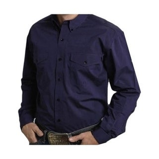 Roper Western Shirt Mens L/S Tall Button Purple 03-001-0665-0660 PU