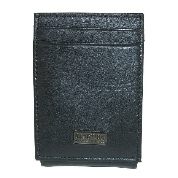 Kenneth Cole Men's Leather Magnetic Front Pocket Wallet with ID - One size