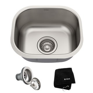 Link to KRAUS Premier Stainless Steel 15 inch Undermount Kitchen Bar Sink Similar Items in Sinks