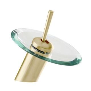 Waterfall Faucet Heavy Antique Brass 7H Glass Short Renovator's Supply