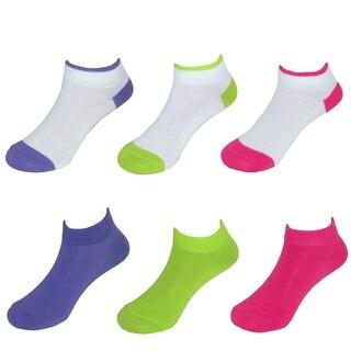 Fruit of the Loom Toddler Girl's Low Cut Socks (6 Pair Pack)