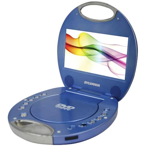 Sylvania sdvd7046-blue 7 portable dvd player with integrated handle (blue)