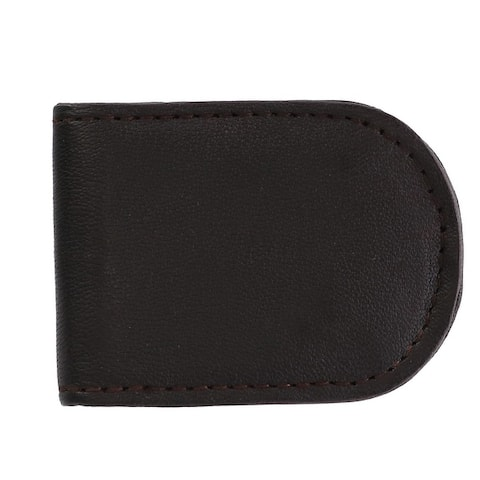 CTM® Men's Basic Leather Money Clip - one size