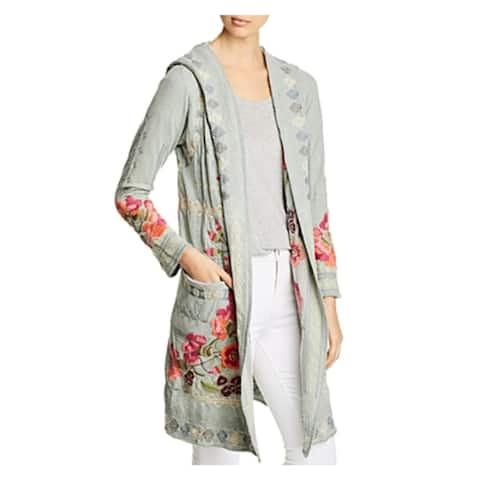 Johnny Was Womens Duster Sweater Long Hooded - L