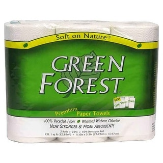 Green Forest Premium Paper Towels - (Case of 30 - 1 roll)