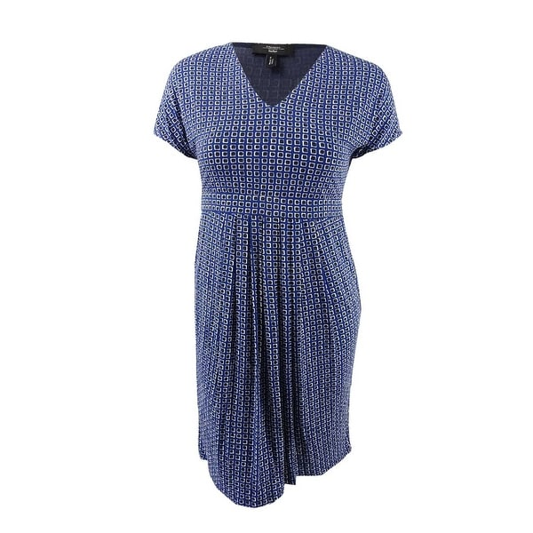 e81a09aefd3 Shop Weekend Max Mara Women's Eiffel Printed A-Line Dress (XL, Blue) - Blue  - XL - On Sale - Free Shipping Today - Overstock - 23601356