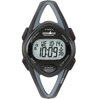 Timex Ironman Triathlon Sleek 50-Lap Mid-Size Black Watch