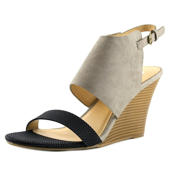 CL By Laundry Baja Women Open Toe Synthetic Gray Sandals