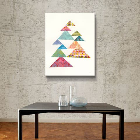 ArtWall Modern Abstract Triangles I Gallery Wrapped Canvas