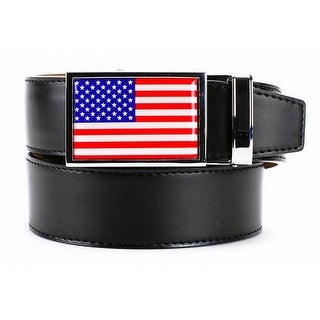 Nexbelt Heritage USA Classic with Smooth Black Leather Strap Dress Belt
