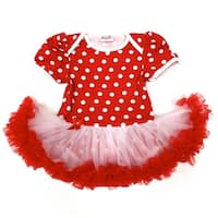 Wenchoice Baby Girls Red White Polka Dots Tutu Short Sleeve Bodysuit