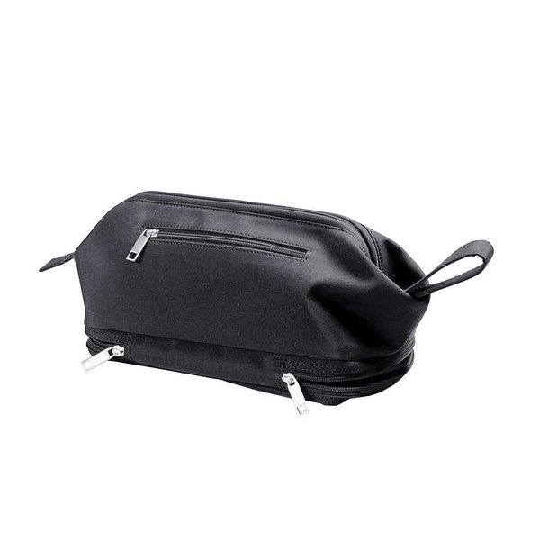 Winn International Microfiber Organizer Travel Toiletry Kit Bag, Black - One size