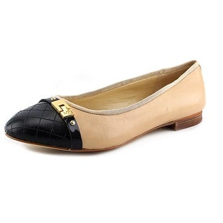 Marc Fisher Jodita Women Round Toe Synthetic Nude Flats